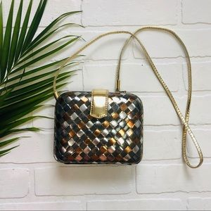 Vintage La Regale Metallic Woven Evening Bag